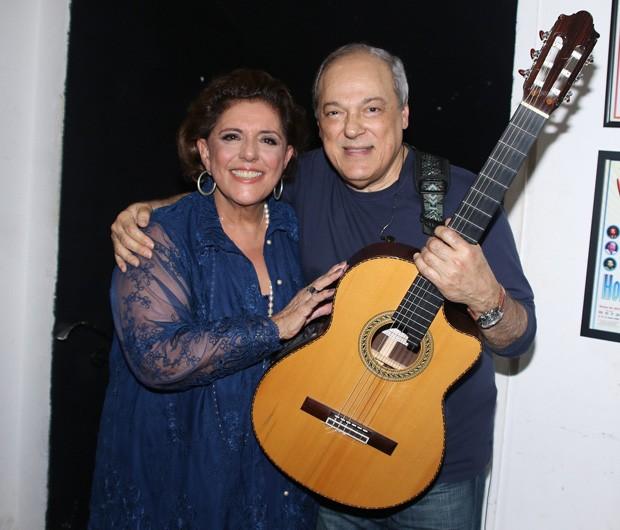 Leda Nagle e Toquinho (Foto: Thiago Duran/AgNews)