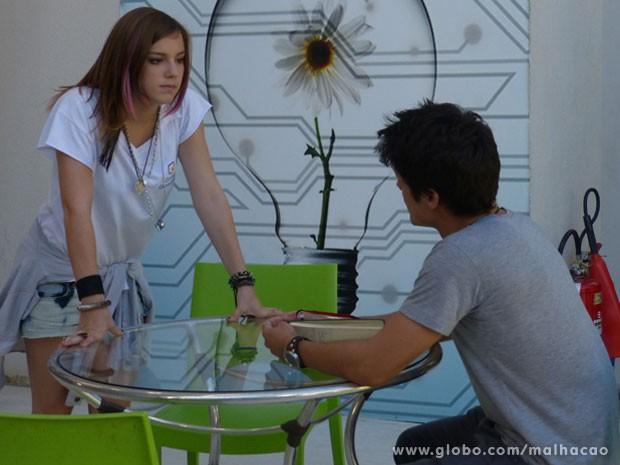 Agora a Lia caiu na real! A roqueira vai deixar claro que não quer nada mais com o Vitor (Foto: Malhação / Tv Globo)