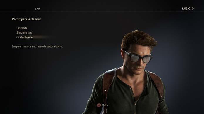 Confira o conteúdo do baú de Uncharted 4 (Foto: Reprodução/Murilo Molina)