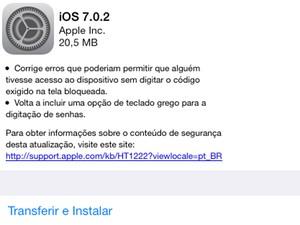 Atualização do iOS 7 busca corrigir falhas de segurança de novo sistema (Foto: Reprodução)