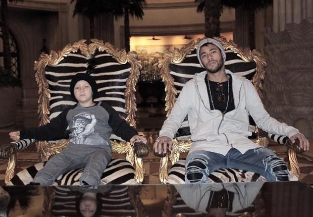 Neymar e o filho, Davi Lucca (Foto: Reprodução/Instagram)
