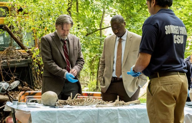 "THE SINNER -- ""Part V"" Episode 105 -- Pictured: (l-r) Bill Pullman  as Detective Harry Ambrose, Dohn Norwood as Dan Leroy -- (Photo by: Peter Kramer/USA Network) (Foto: Peter Kramer/USA Network)"