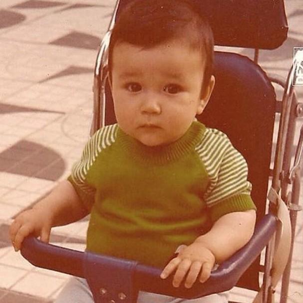 Sergio Marone na infância (Foto: Reprodução/Instagram)