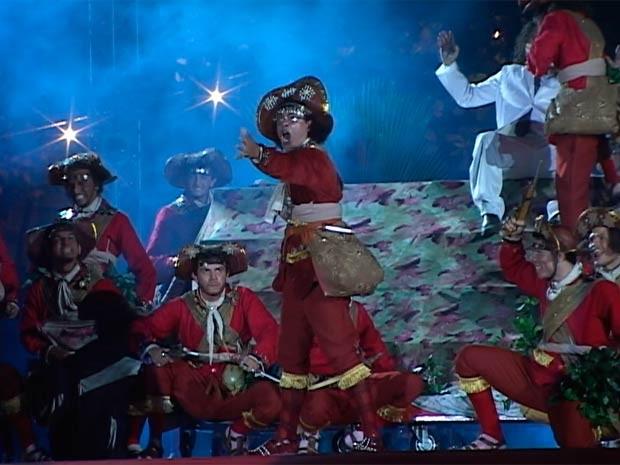 Espetáculo Chuva de Balas no País de Mossoró foi cancelado por questões técnicas (Foto: Reprodução/Inter TV Cabugi)