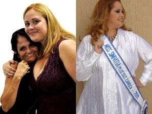 A Miss Plus Size Carioca com a mãe (Foto: Arquivo Pessoal)