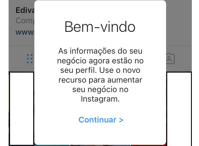 Instagram confirmando a conversão da conta (Foto: Reprodução/Edivaldo Brito)