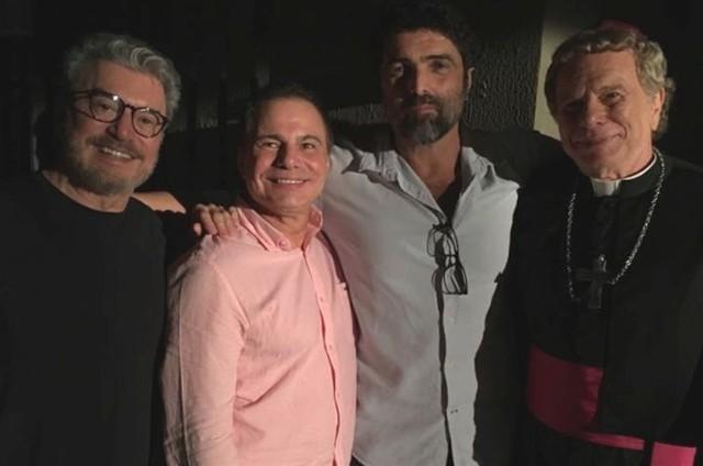 Edney Silvestre, Ricardo Linhares, Carlos Manga Jr. e Jonas Bloch (Foto: Arquivo pessoal)