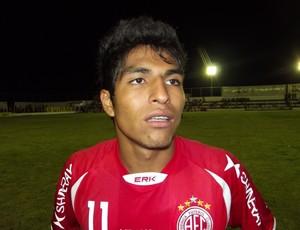 Índio Oliveira, atacante do América-RN (Foto: Jocaff Souza)