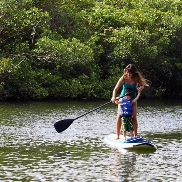 Daniele Suzuki com o filho, Kauai, em Palm Beach Gardens, na Flórida, nos Estados Unidos (Foto: Instagram/ Reprodução)