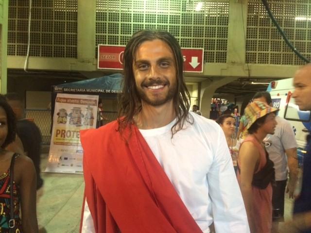 Paulo Dalagnoli vive Jesus na Sapucaí (Foto: Cristina Boeckel/G1)