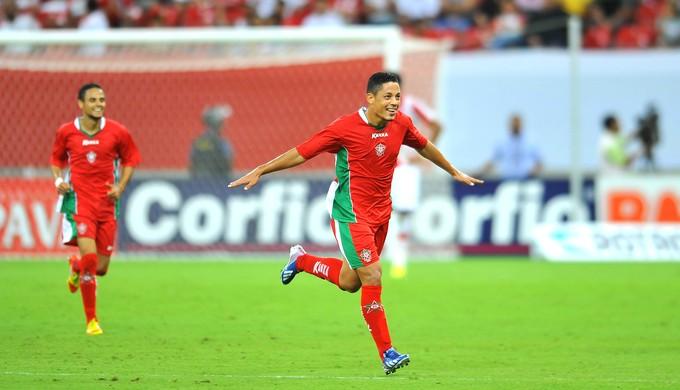 Tomas comemora gol do Boa Esporte (Foto: Antônio Carneiro/FuturaPress)