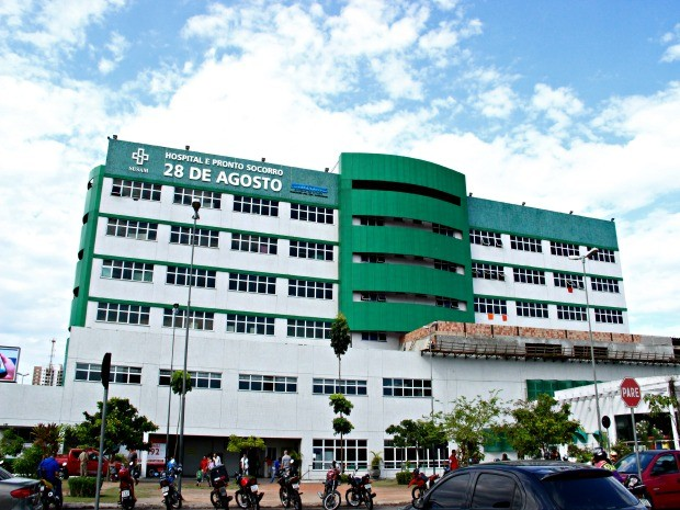 Casal permanece internado no Centro de Tratamento de Queimados do Hospital Pronto-Socorro 28 de Agosto  (Foto: Adneison Severiano/G1 AM)