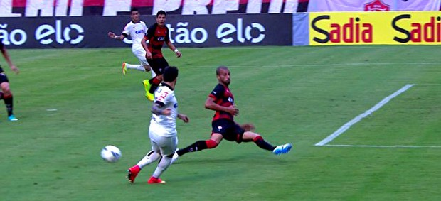 FRAME - Jadson Corinthians e Vitória (Foto: SporTV)