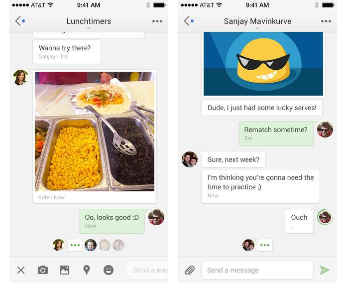 Hangouts para iOS traz novo design, stickers e mensagens de vídeo ao estilo Vine (Foto: Reprodução/Apple App Store)