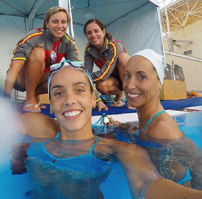 Espanholas nado sicronizado  (Foto: Reprodução / Instagram)
