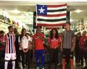 Maranhão Atlético apresenta novo uniforme em loja no centro de São Luís