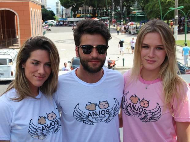 Giovanna Ewbank, Bruno Gagliasso e Fiorella Matheis (Foto: Christian Emanoel/Divulgação)