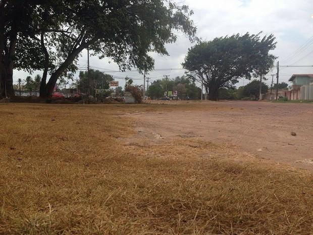 Terreno fica às margens da Rodovia JK, em Macapá (Foto: Dyepeson Martins/Rede Amazônica no Amapá)