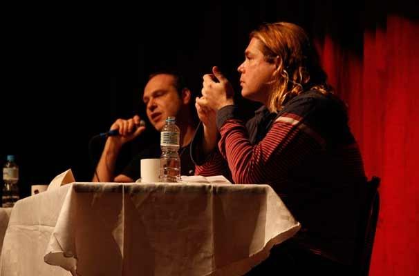 João Fonseca e Charles Möeller na primeira edição do seminário (Foto: Nathalia Fernandes)