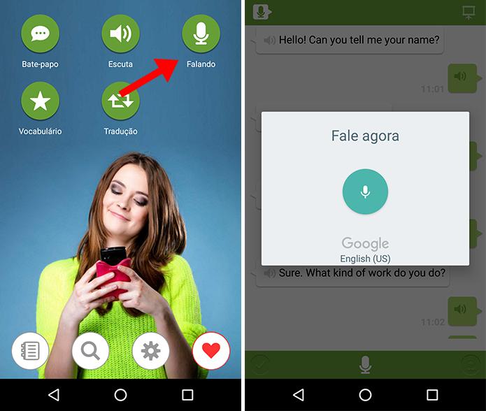 Converse com o aplicativo usando a voz (Foto: Reprodução/Paulo Alves)