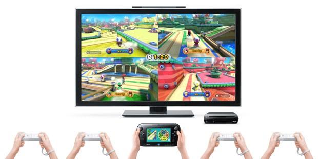 Imagem mostra como são jogados os games multijogador no Wii U (Foto: Divulgação)