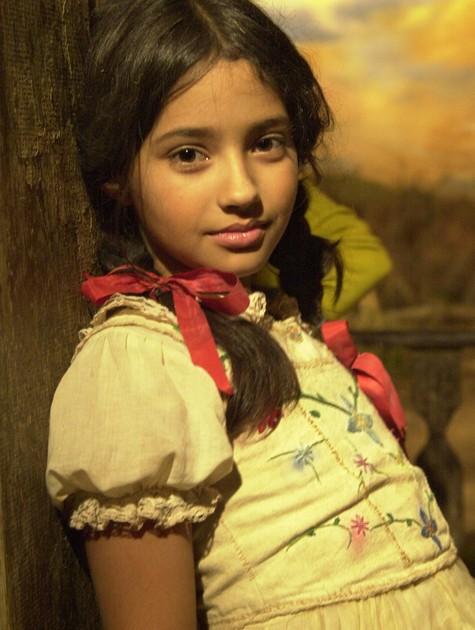 Carolina Oliveira na época de 'Hoje é dia de Maria' (2005) (Foto: TV Globo)