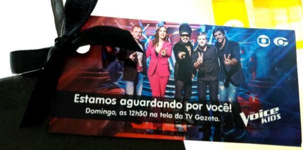 Convite da TV Gazeta para a assistir a estreia do programa  (Foto: Divulgação / Marketing TV Gazeta)