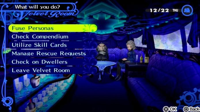 Use o Velvet Room para fundir Personas (Foto: Divulgação)