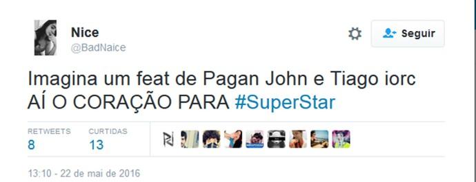 Tiago Iorc Pagan John redes sociais (Foto: Reprodução/Internet)