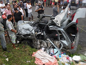 Vereador morre em acidente de carro no interior da Paraíba (Foto: Plínio Almeida/TV Paraíba)