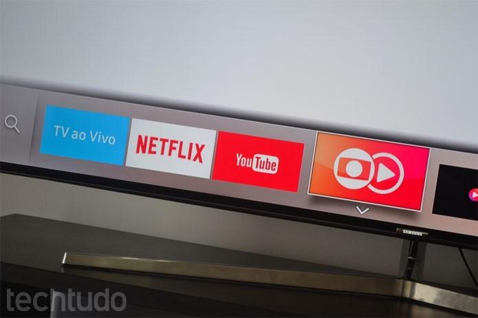 Tizen é o sistema operacional das Smart TVs Samsung (Foto: Melissa Cruz/TechTudo)