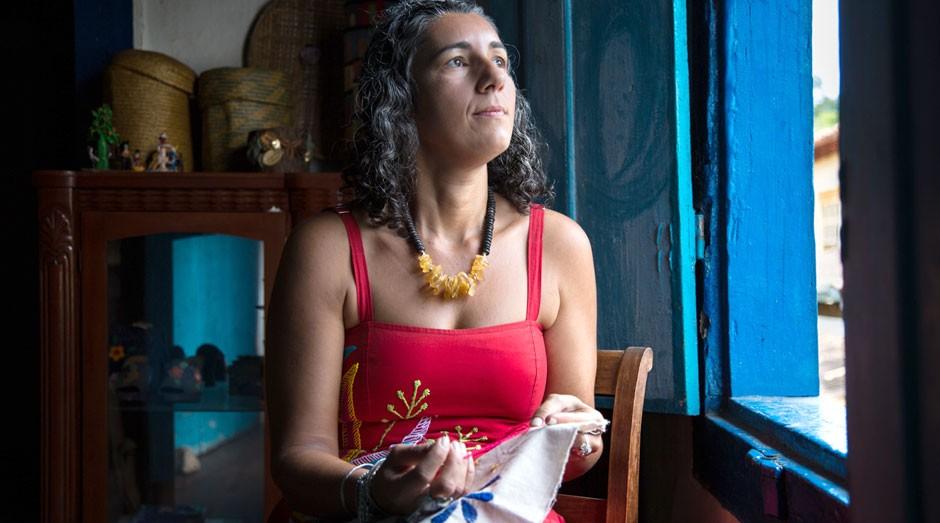 Milena Curado, da Cabocla Criações: trabalho manual como MEI (Foto: Juliana Matos)