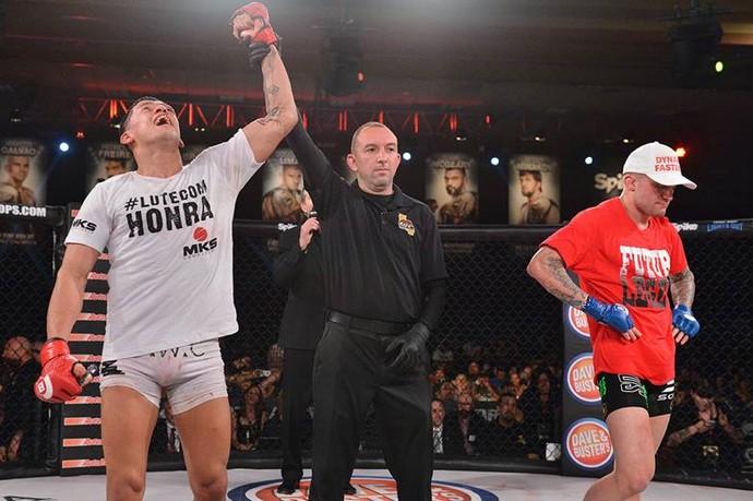Dudu Dantas venceu o americano Mike Richman por decisão unânime no Bellator 137 (Foto: Divulgação/ Bellator)