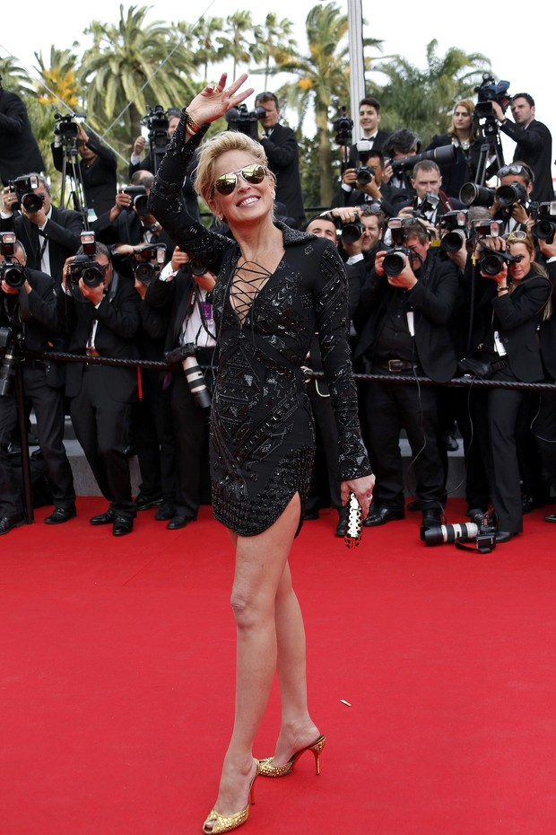 Sharon Stone no Festival de Cannes (Foto: Reuters)
