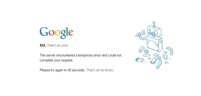 Hangouts e Google Drive apresentam problemas (Reprodução/Taysa Coelho)