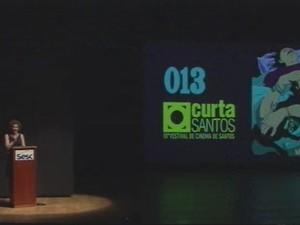 Abertura do Curta Santos aconteceu no Sesc (Foto: Reprodução/TV Tribuna)