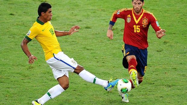 Paulinho brasil espanha final copa das confederações (Foto: Alexandre Durão / Globoesporte.com)