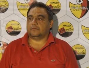 Tiko Miudezas, presidente do Paraíba de Cajazeiras  (Foto: Larissa Keren)