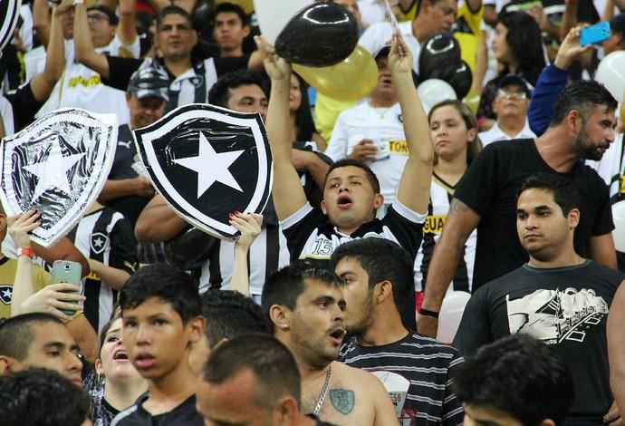 Amazonenses vibraram com o time do coração (Foto: Adeilson Albuquerque)