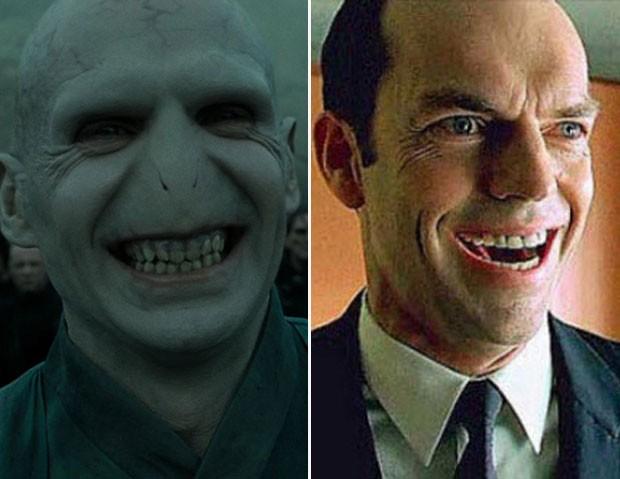 Bebê teve sorriso comparado a de vilões do cinema, como Voldemort e agente Smith (Foto: Reprodução)
