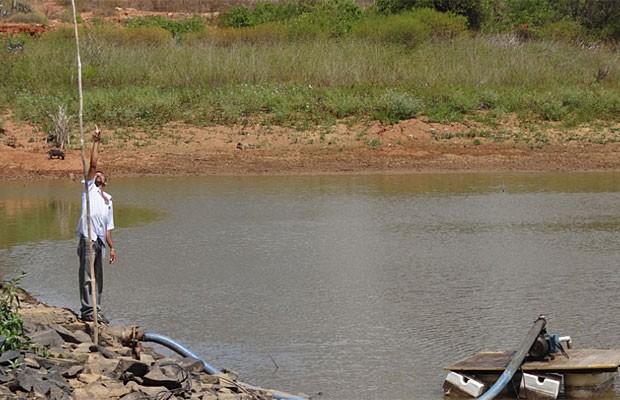 Barragem em Santa Cruz, Pernambuco (Foto: Luna Markman / G1)