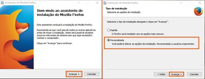 Faça a instalação personalizada da segunda versão do Firefox (Foto: Reprodução/Barbara Mannara)