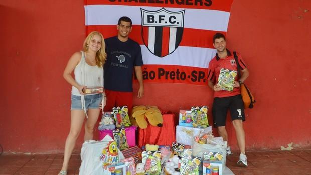 Botafogo Challengers arrecada brinqueados para doar no Natal (Foto: Rafael Martinez / Botafogo FC)