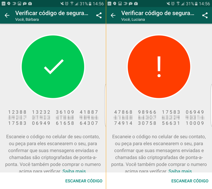 WhatsApp: aplicativo avisa se a troca de mensagens é privativa ou não (Foto: Reprodução/TechTudo)