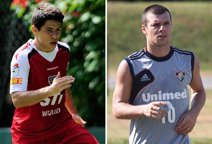 monategm Osvaldo e Wagner São Paulo e Fluminense (Foto: Editoria de arte)