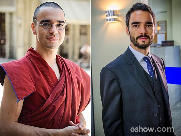 De monge a executivo, Caio Blat muda o cabelo e adota barba (Foto: Império / TV Globo)