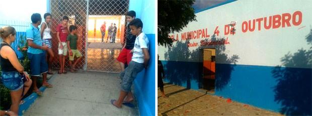 Em luto, Escola Municipal 4 de Outubro, em José da Penha, só terá aulas na próxima semana (Foto: Sara Cardoso/G1)