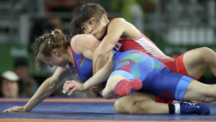 Kaori Icho vence Yulia Ratkevich (AZE) luta olímpica 58kg (Foto: Reuters)
