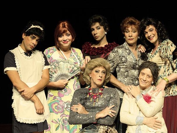 Elenco de 'Chá das Cinco': espetáculo foi montado em apenas um mês (Foto: Divulgação)