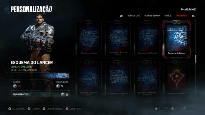 Enfeite seu perfil com emblemas de Gears of War 4 (Foto: Reprodução/Murilo Molina)